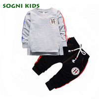2017 Autumn Children Girl Clothing Set Baby Girls Leisure Letter Long Sleeve T Shirts Pants 2Pcs