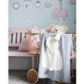 3 Cores Multi-Função de Malha Tapete Tapete Esteira do Jogo Cobertor Do Bebê Coelho Crianças Cama Decoração em Estilo Europeu Quarto Dos Miúdos decoração