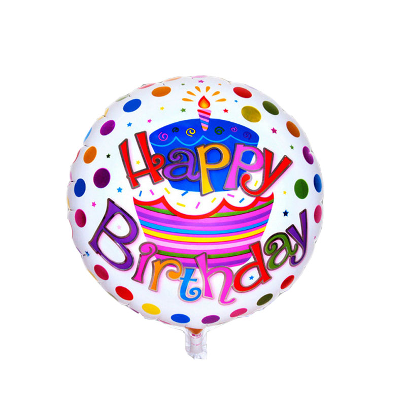 5pcs/lot Birthday cake foil balloons helium balloon globos kids inflatable toys happy birthday balloons air balls party supplies