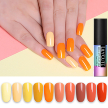 LILYCUTE 5ml Orange Yellow Color Gel Nail Polish Soak Off UV Varnish Long Lasting Led Bright Summer Art