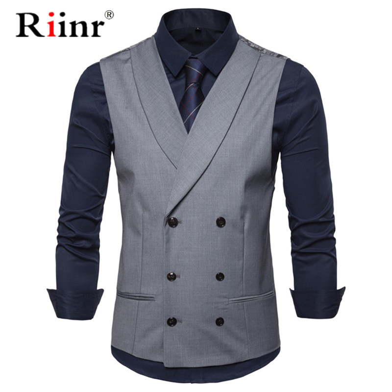 Male British Style Casual Suit Vest Men 2019 Spring Autumn Sleeveless Vest Waistcoat Mens Slim Wedding Business Vests 2XL