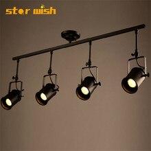 Star wish промышленный Лофт 5 Вт светодио дный светодиодные прожекторы американский стиль потолочный прожектор стержень освещение магазин одежды бар