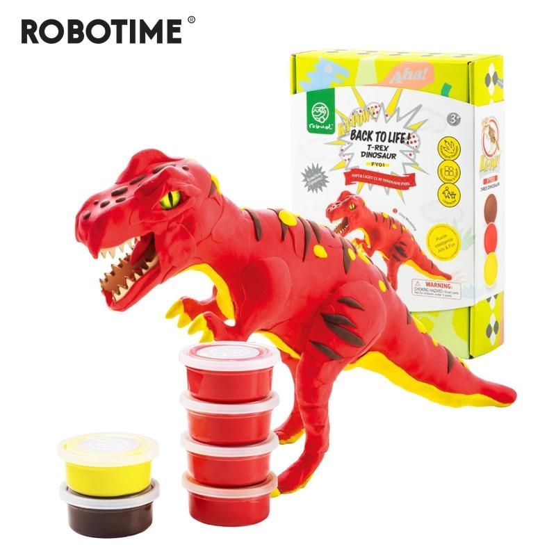 Robotime juguete 6 tipos de arcilla de modelado de luz Super polímero creativo arcilla DIY creativo de peluche de juguete de regalo para niños FY