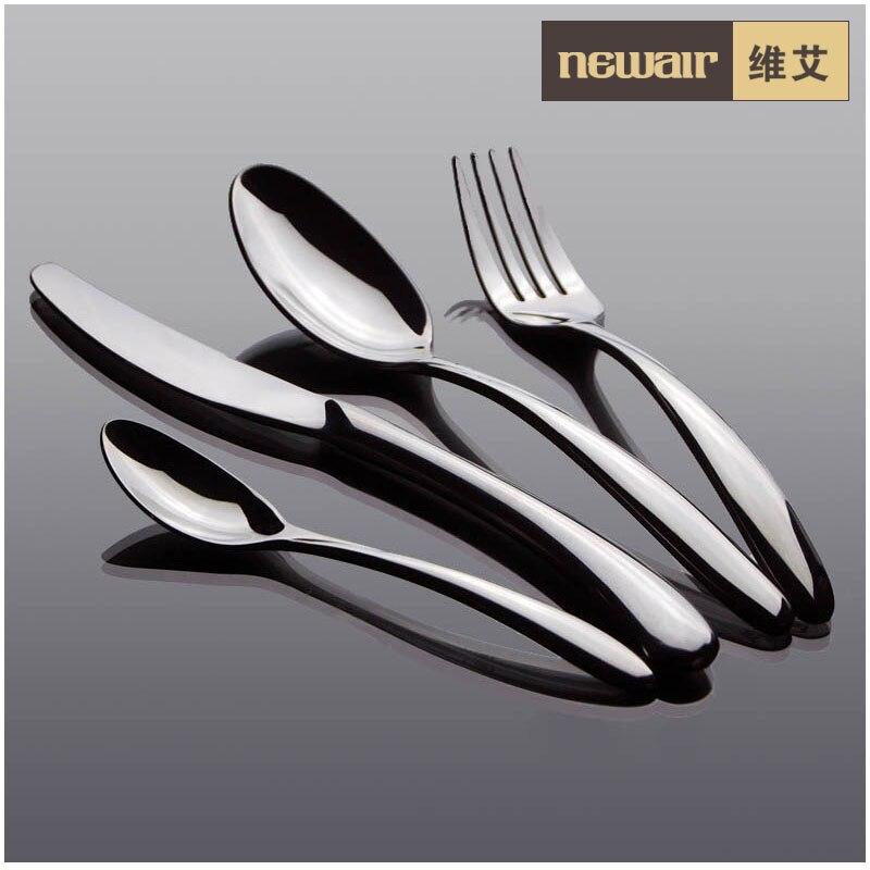 kitchen dining duke fashion tableware font b knife b font set fork spoon 4 piece pre