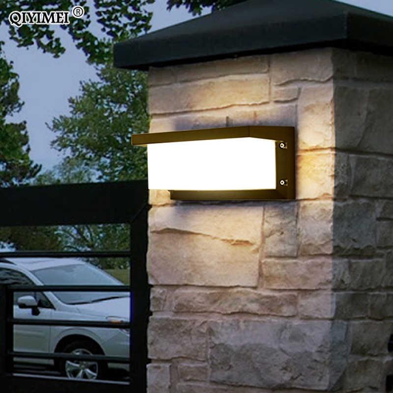 Водонепроницаемый светодиодный настенный уличный садовый светильник украшение передней двери Освещение Бра AC85-260V светильник черный абажур светильника