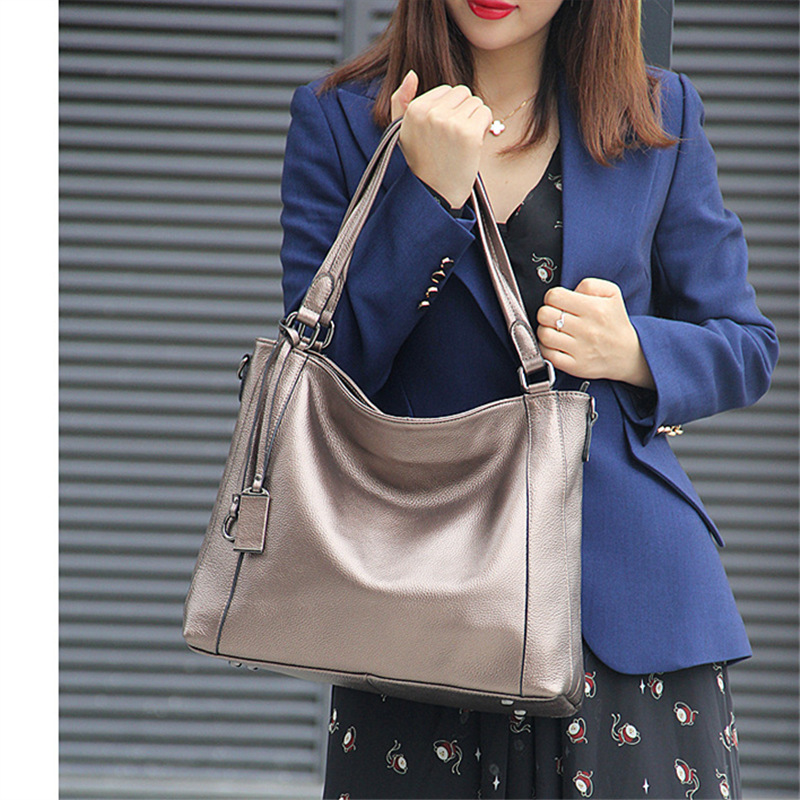 где купить Nesitu Black Blue Red Khaki Bronze Large Capacity Genuine Leather Women Handbag Office OL Messenger Bags Tote Shoulder Bag M1937 по лучшей цене