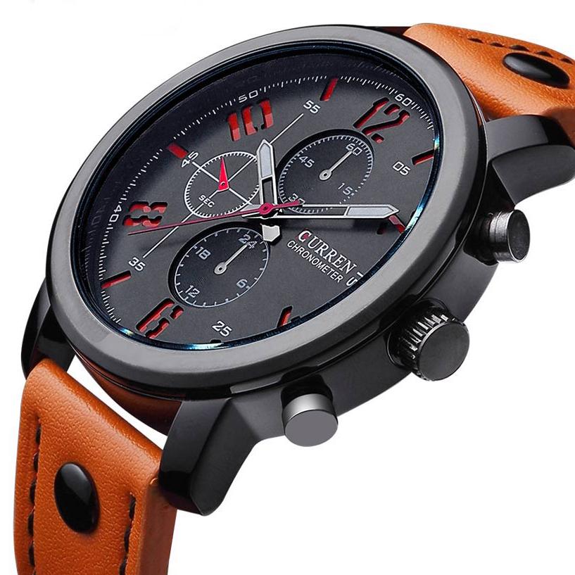 Prix pour Curren hommes de sport montres à quartz hommes montres top marque de luxe en cuir montres relogio masculino hommes curren montres 8192