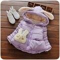 Bebê meninas outerwear casacos de Inverno 2016 novo estilo de moda infantil roupas para 1 2 3 anos de idade as crianças roupas A164