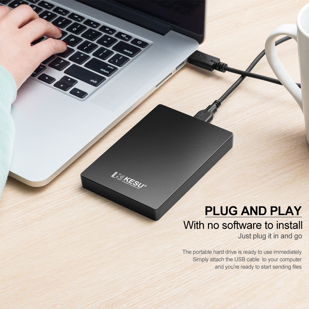 Portable External Hard Drive Black (6)