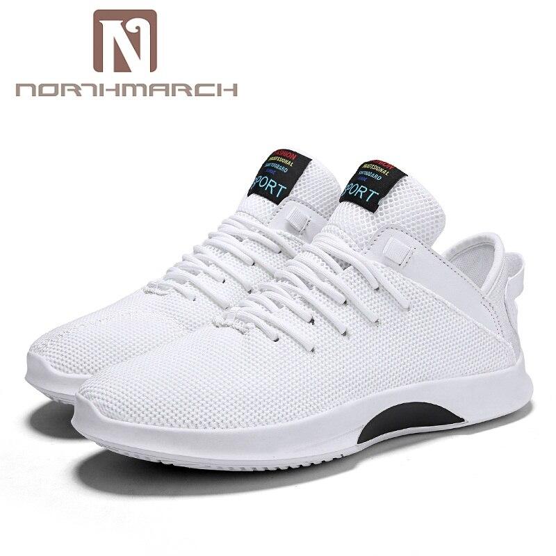 De blanc Été Respirant Chaussure Casual 2018 Printemps En Chaussures gris Hommes Homme Noir Espadrilles Northmarch Mesh Air Marche Plein UBww7q