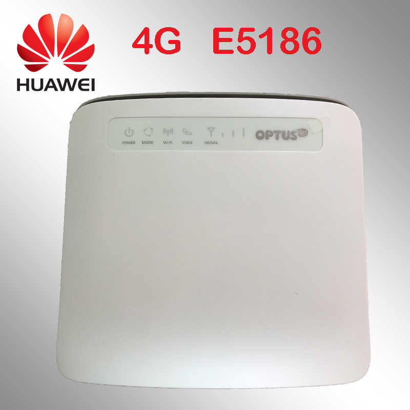 Desbloqueado 4g router huawei E5186 E5186s-22a 4g 300 Mbps inalámbrica LTE 12 v router 4g wifi dongle cat6 Mobile hotspot cpe coche router