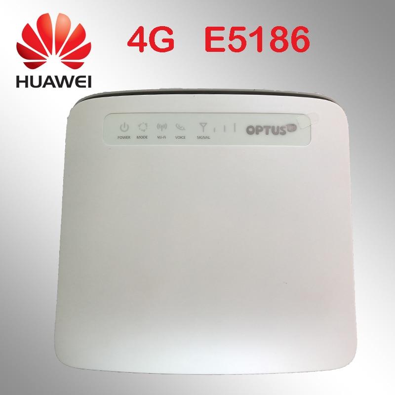 Desbloqueado 4g 4 100mbps 300g LTE Router Huawei E5186 E5186s-22a 12 V Router 4g Dongle Wi-fi Sem Fio Cpe Cat6 Hotspot Móvel Roteador Carro