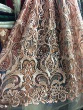 2016 latest african elastic nets, prancūzų swiss auksas nėriniai audinio vestuvių vakarėliams suknelė siuvinėjimas tullio nėrinių audinio violetinė 5y
