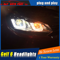 Auto Pro Car Style LED Head Lamp For VW Golf 6 Led Headlights 2009 2013 Angel
