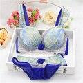 Novas Mulheres Não inserção folha de moldagem Copo reunir conjunto de sutiã, sexy lingerie, roupas íntimas, sutiã breves conjuntos