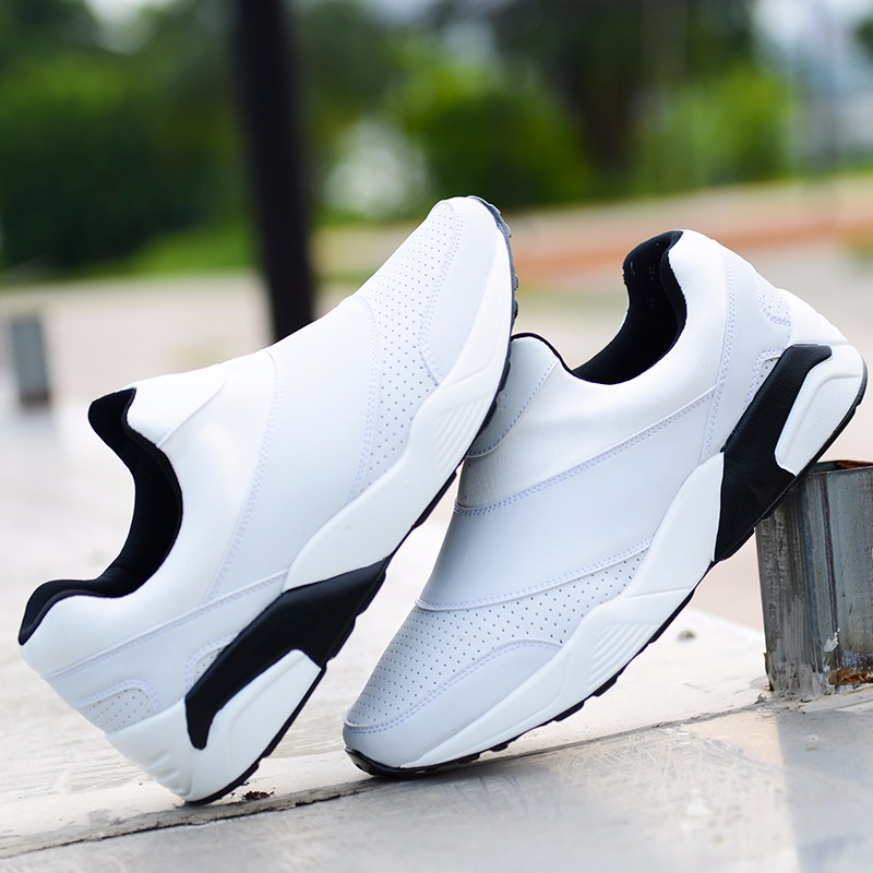 Sport Men Casual Shoes 2016 Fashion PU Leather Flat Leisure Men\'s Shoes Summer Breathable Low Top Shoes Slip On Trainers YD78 (18)