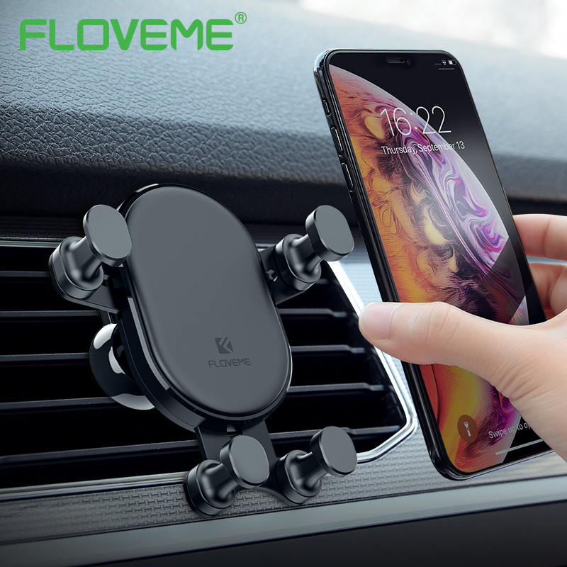 Convenience Holder For Phone in Car Luxury Auto Lock Gravity Car Holder Air Vent Mount Bracket For Samsung Note 9 8 Stand Holder mobile phone car vent holder