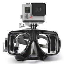 Accesorios de Buceo Gafas de Buceo Máscara de montaje para Go Pro GoPro Hero4 3 + Negro Cam Ediciones, SJ4000 Xiao yi