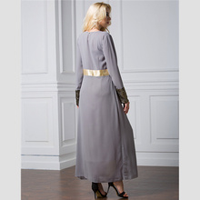 Womens Long Robe Dress Long Sleeve Vintage Chiffon Clothing