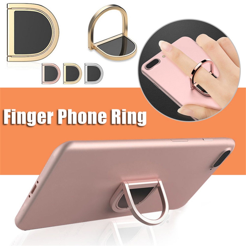 2018 New innovative D Letter Innovative Ring Mobile Phone Holder for iPhonexiaomi