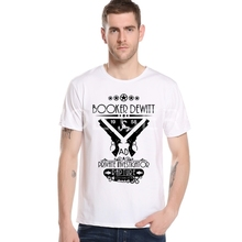 Men Print Short Shooting Game BioShock Printing Shirt Video Games Men 3D Cartoon T-shirt Top Bioshock t shirt M20-3#