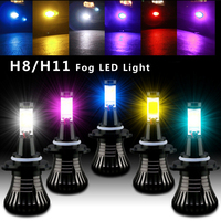 2pcs Lot Car LED Front Fog Lamp Flashing Light Strobe Bulb H8 H11 12V 6000k DRL