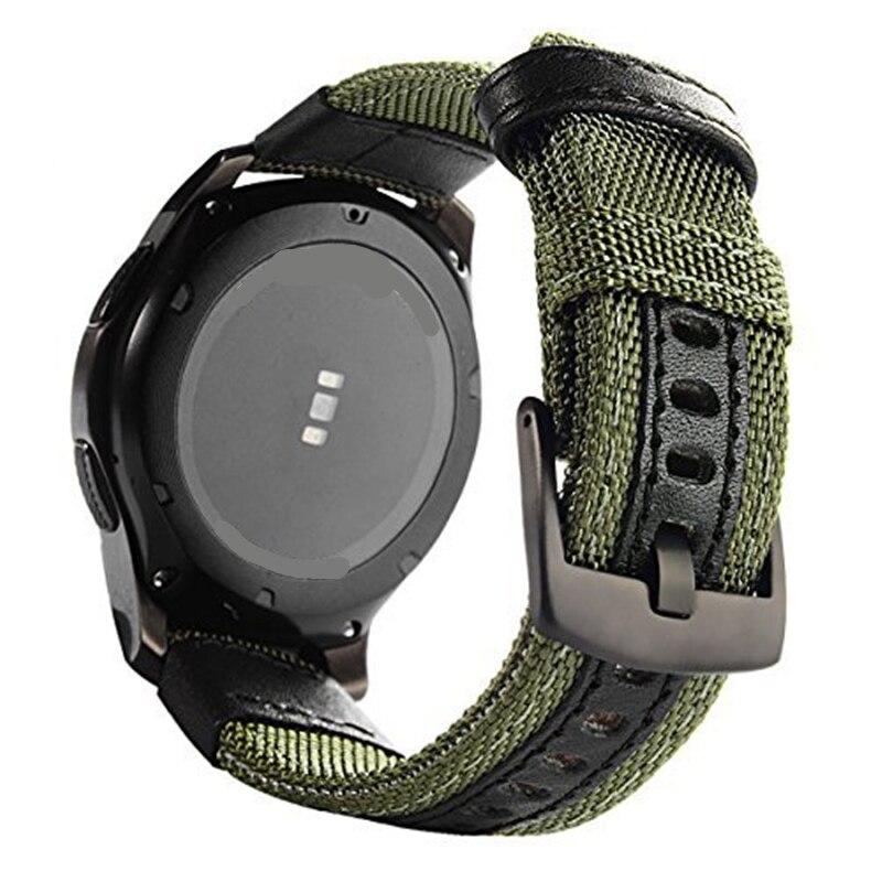 Tissé Nylon Remplacement Bracelet Sport Bracelet Bracelet pour Samsung Vitesse S3/Vitesse S2 Classique/Sport Équipement De Bande/ vivoactive 3/Amazfit