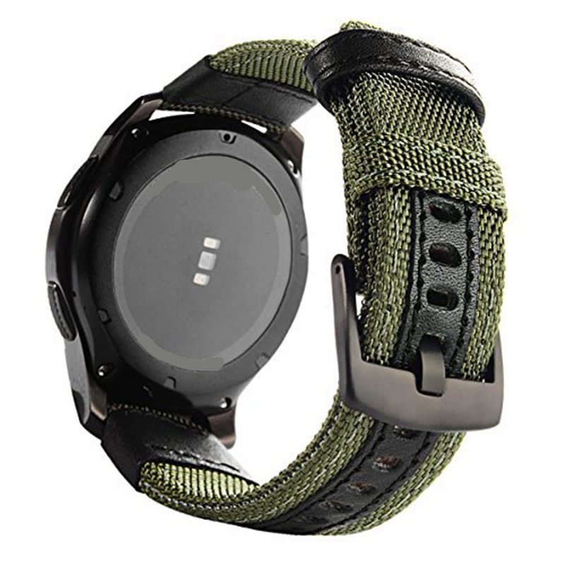 Woven Nylon Replacement Strap Sport Wristband Bracelet for Samsung Gear S3 /Gear S2 Classic/Gear Sport Band/Vivoactive 3/Amazfit samsung gear s2 sport black