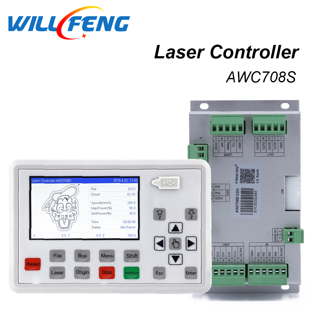 Will Feng Trocen Awc708s Co2 Laser Controller For Co2 Laser Engraving Cutter Machine .laser System Mainboard Parts