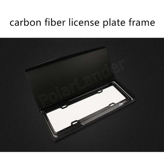 1 пара автомобиля регулируемый углеродного волокна рамка номерного знака рамка номерного знака номерной знак 46.5x17 см новый продукт