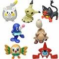 NEW Pokedoll Mimikyu Pikachu Popplio Togedemaru Rotom Torracat Rockruff Rowlet 4cm PVC Action Figures Toys For Kids Gift