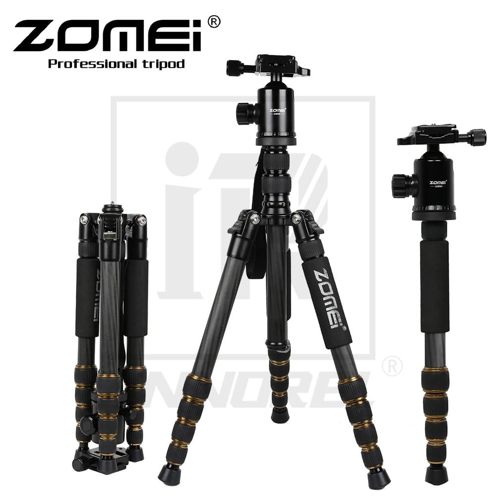 Zomei Z699C Professional Carbon Fiber Tripod Kit For Travel DSLR Camera Monopod Stand Ballhead Compact Portable 1.476kg weight