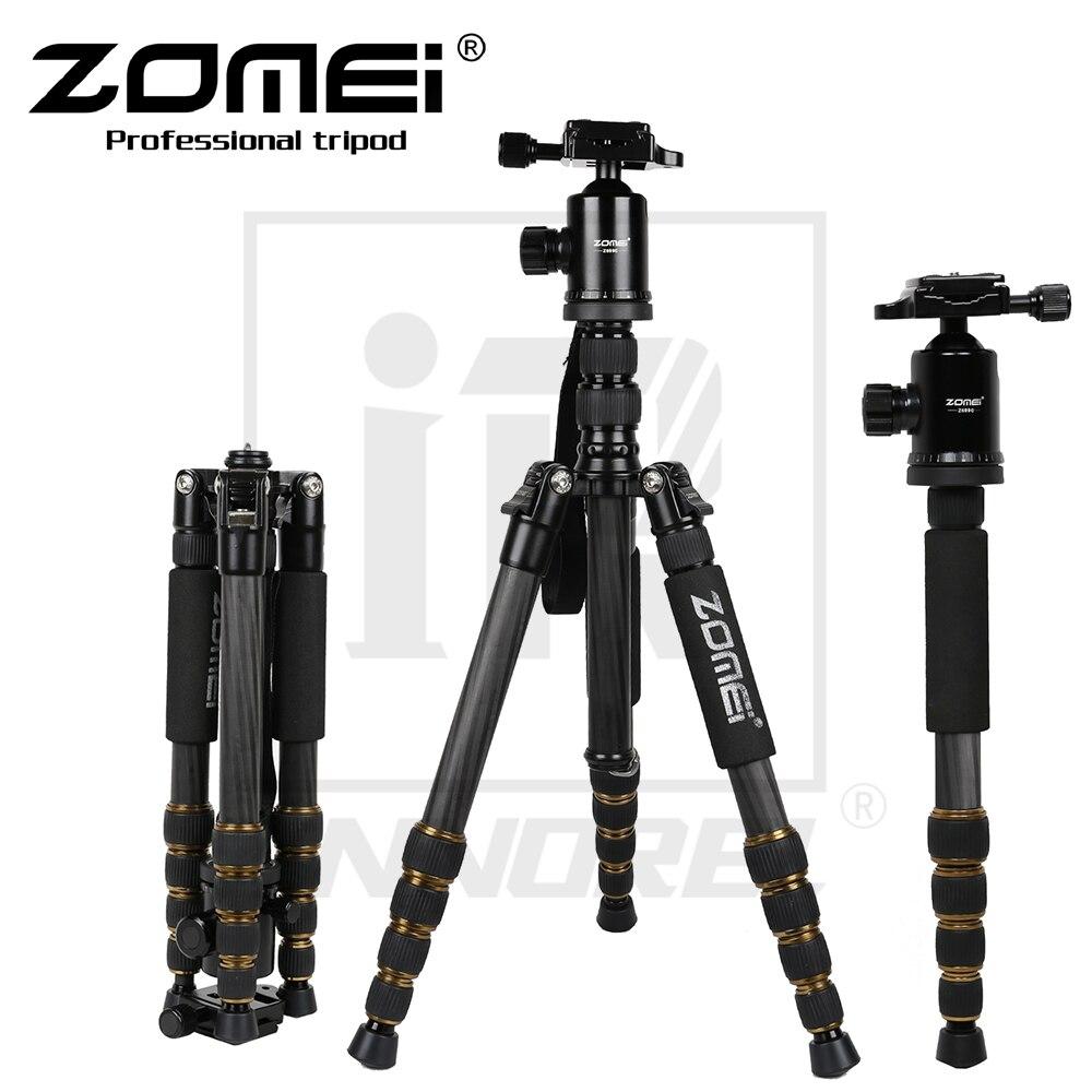 Zomei Z699C Professionnel Trépied En Fiber De Carbone Pour Voyage DSLR Caméra Monopode Support Rotule Compacte Portable 1.476 kg poids