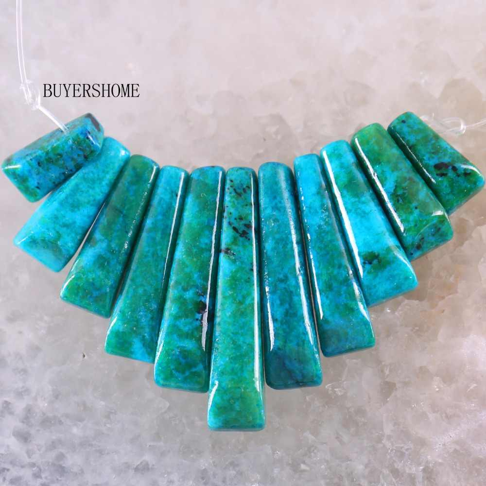 Новое, без бирок модные ювелирные изделия натуральный голубой камень бразильский Pendant кулон бусины 11 шт набор RK045