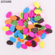 ZOTOONE 100pcs/lot handmade Sewing Button Scrapbooking Solid Random Mixed Color for DIY Clothes Dolls Crafts Garment Accessories