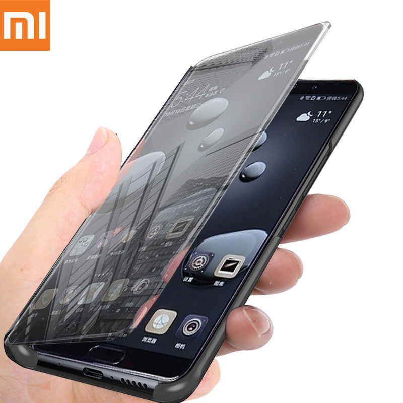Mirror Flip Case For Xiaomi <font><b>Mi</b></font> 8 <font><b>SE</b></font> A1 A2 Lite MIX2 Redmi 6A Note 6 Pro 5 Plus 5A Prime Note 4X 4 <font><b>Global</b></font> S2 Poco F1 Full Cover image