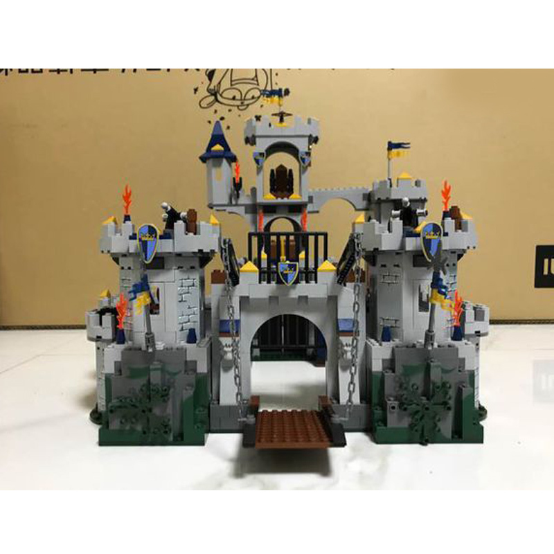 WAZ Compatible Legoe Castle Series 7094 Lepin 16017 1023pcs King's Castle Siege building blocks Figure bricks toys for children waz compatible legoe technic series 75913 lepin 21010 914pcs super racing car red truck building blocks bricks toys for children