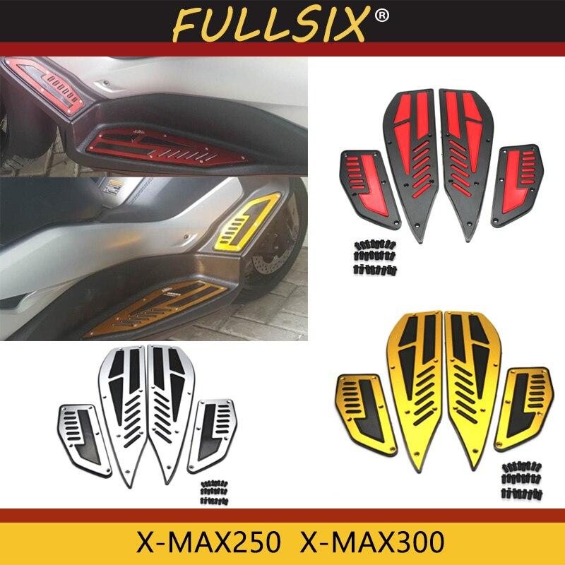 オートバイペダルアルミ合金ヤマハ XMAX 300 2017 2018 X MAX 250 300 CNC アルミ足パッド  グループ上の 自動車 &バイク からの カバー & オーナメント作り の中 1