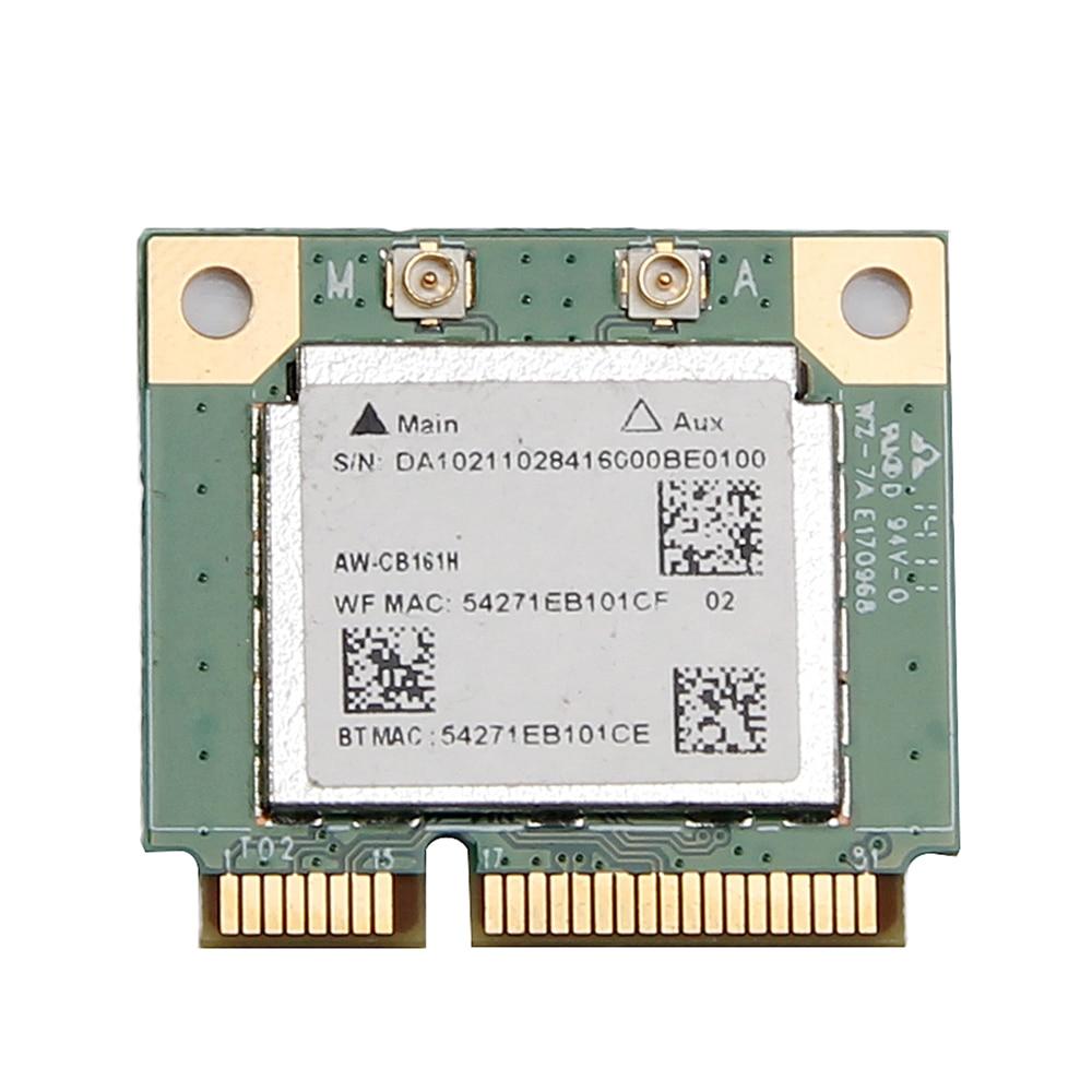 Двухдиапазонный адаптер Realtek RTL8821 AW-CB161H Wifi Wlan карта Bluetooth 4,0 комбинированный беспроводной половинный мини PCI-E адаптер 433 Мбит/с 802.11ac