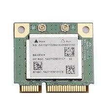 Banda dupla realtek rtl8821 AW-CB161H wifi wlan cartão bluetooth 4.0 combinação sem fio metade mini adaptador pci-e 433mbps 802.11ac