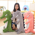 1pc New style 80/100cm cute Crocodile Plush Toys Stuffed Animal Dolls Baby Toys Children birthday christmas Gift Free Shipping