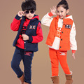 Children Clothing Sets Girl and Boy Thick Vest + Coat + Pants 3 Pcs Autumn Winter Cotton Sprot Kids Tracksuit 2 4 6 8 10 12 Year