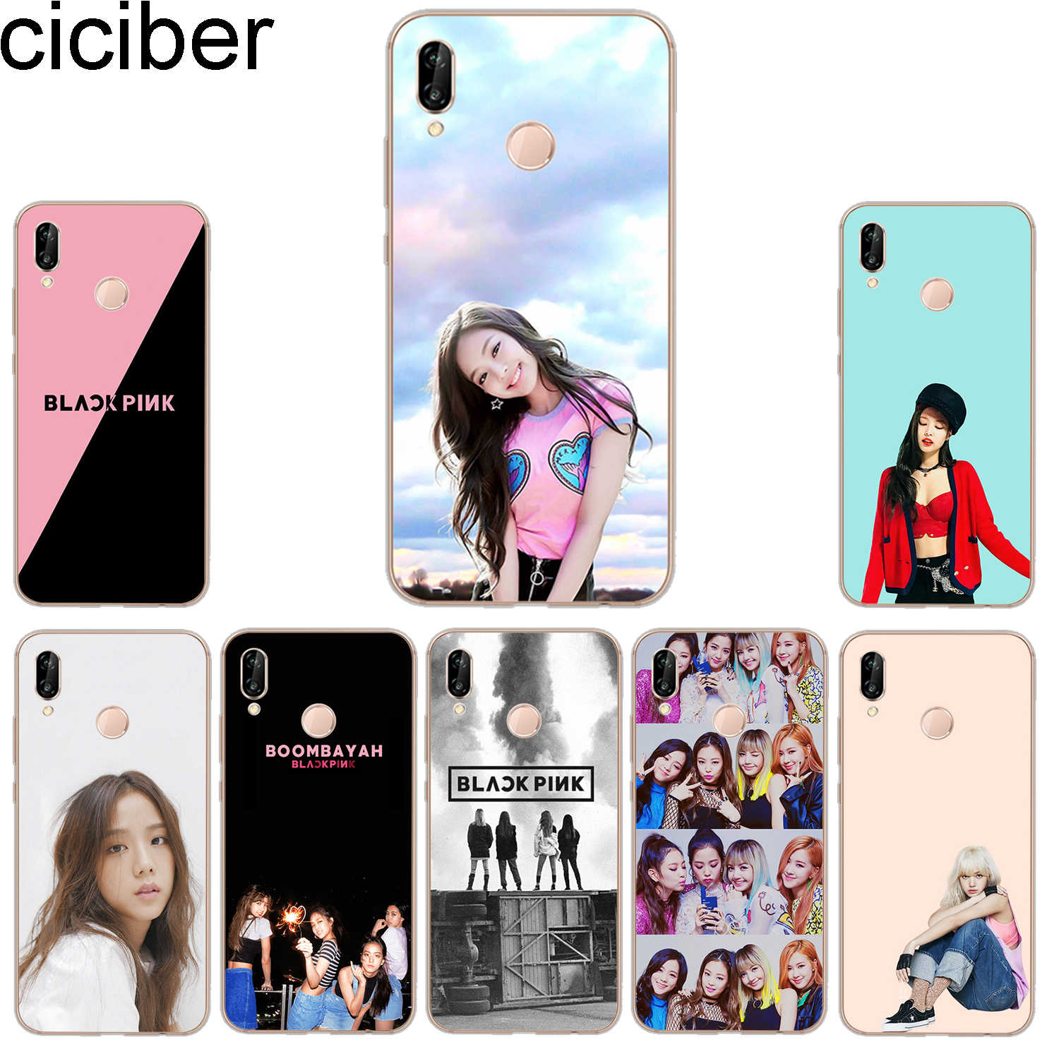 ciciber Phone Cases for Huawei P20 P8 P9 P10 Mate 20 10 9 Lite 2017 X Pro Soft TPU Back Cover for Huawei P Smart 2019 Blackpink