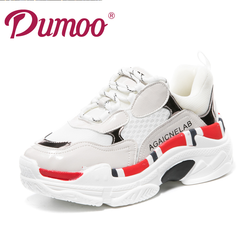 2018 Fashion Hot Casual White Shoes For Women Genuine leather Girl Sneaker Leisure Shoes Breathable Platform Womens Shoes