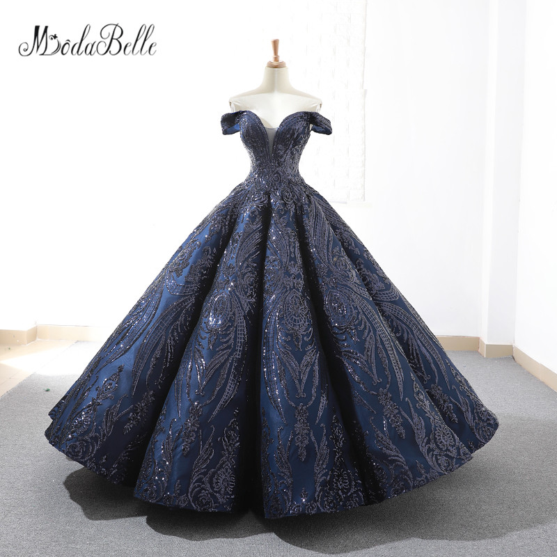 Modabelle Luxurious Sequins Off Shoulder Floor Length Luxurious Elegant Party Gowns Vintage Custom Made Quinceanera Dresses