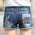 2016 de las Nuevas mujeres Hollow Ripped Jeans Shorts Verano Estilo Sexy agujero de Mezclilla Pantalones Cortos Calientes de Lavado Moda 25-38 El Envío libre