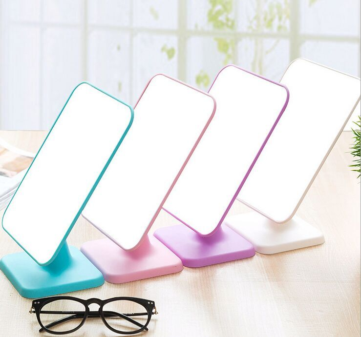 Free Shipping 1piece Good Quality Kawaii Big Beauty Fold Colorful One Side Desktop Makeup Mirror Wholesale