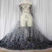 Multi Color Lace Embroidery Lace Fabric Pink Black White Leopar Wedding Dress Diy Materials Clothing Dresses
