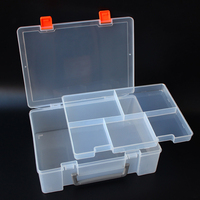 TKDMR Portable Parts Box Double Layer Thickening Le Go Building Blocks Storage Box Electronic Component Box
