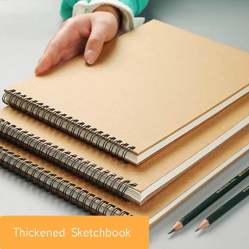 Bgln A3/A4/A5 30Sheets Sketch Book For Drawing Painting Professional Cattle Card Sketch Paper Book School Supplies Stationery